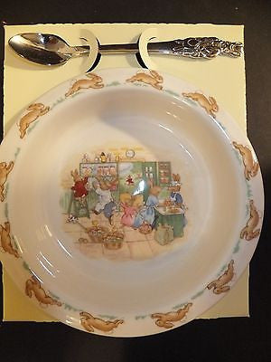 Royal Doulton Bunnykins Nursery Set Two Piece Baby Plate and Spoon New Store