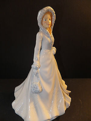 Royal Doulton Pretty Ladies White Christmas Figurine Brand New In Box