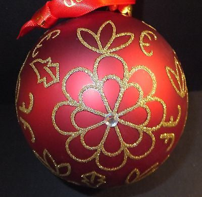 Waterford Flower Burst Ball Ornament Brand New In Box
