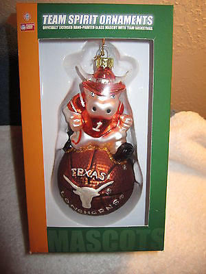 Team Spirit Texas Longhorns Mascot Team Basketball Christmas Ornament