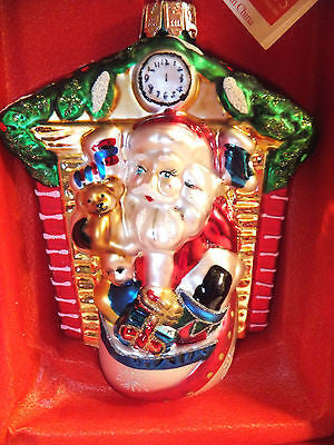Waterford Marquis Fireside Santa Christmas Ornament New In Box