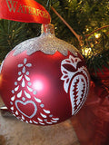 Waterford Holiday Heirlooms Holiday Tree Ball Ball Christmas Ornament NIB