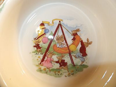 ROYAL DOULTON BUNNYKINS Baby Cereal Bowl New In Box Swing