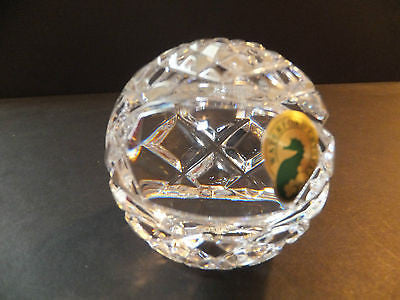 Waterford Crystal Basketball Paperweight New In Box Made In Ireland