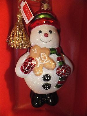 Waterford Marquis Shimmering Snowman Christmas Ornament 2012 Brand New In Box