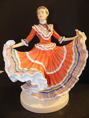 Royal Doulton Dances of the World Mexican Hat Dance Figurine HN5463 Signed