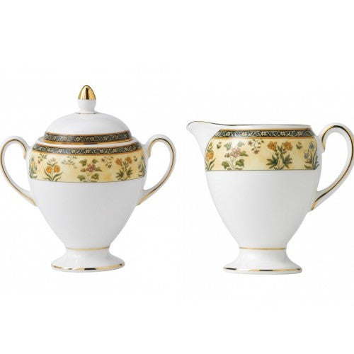 Wedgwood India Covered Sugar and Creamer Brand New