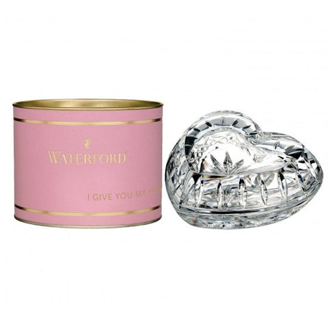 Waterford Giftology Heart Trinket Box New In Gift Canister