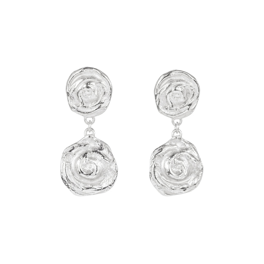 Whirl Earrings Sterling Silver
