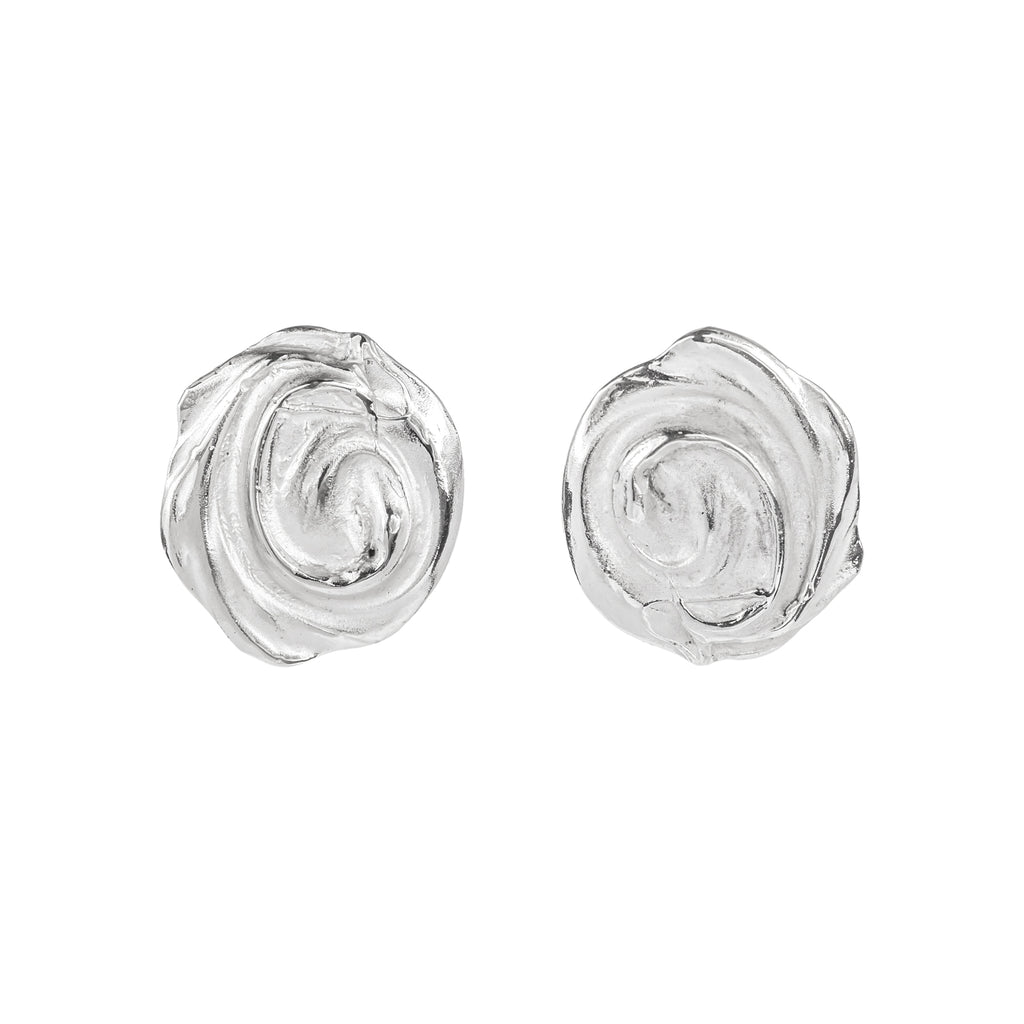 The Endless Whirl Earrings (Sterling Silver) Pascale James Jewellery