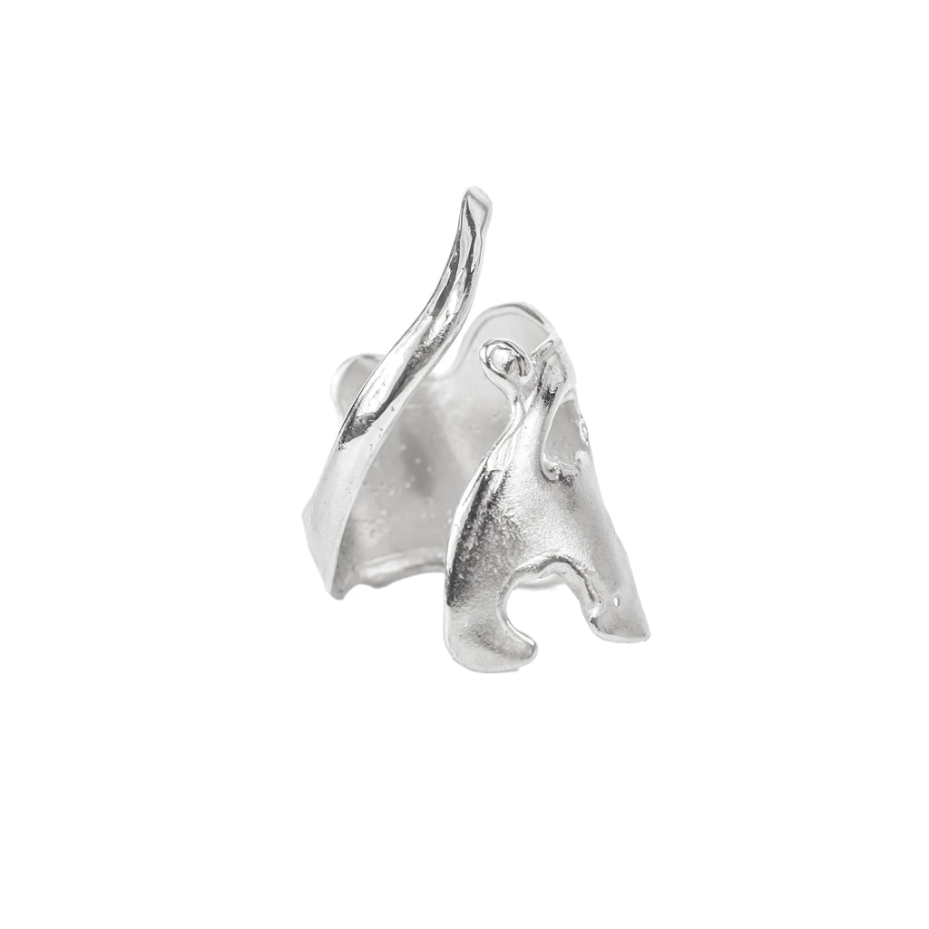 The Broken Wave Ring (Sterling Silver) Pascale James Jewellery