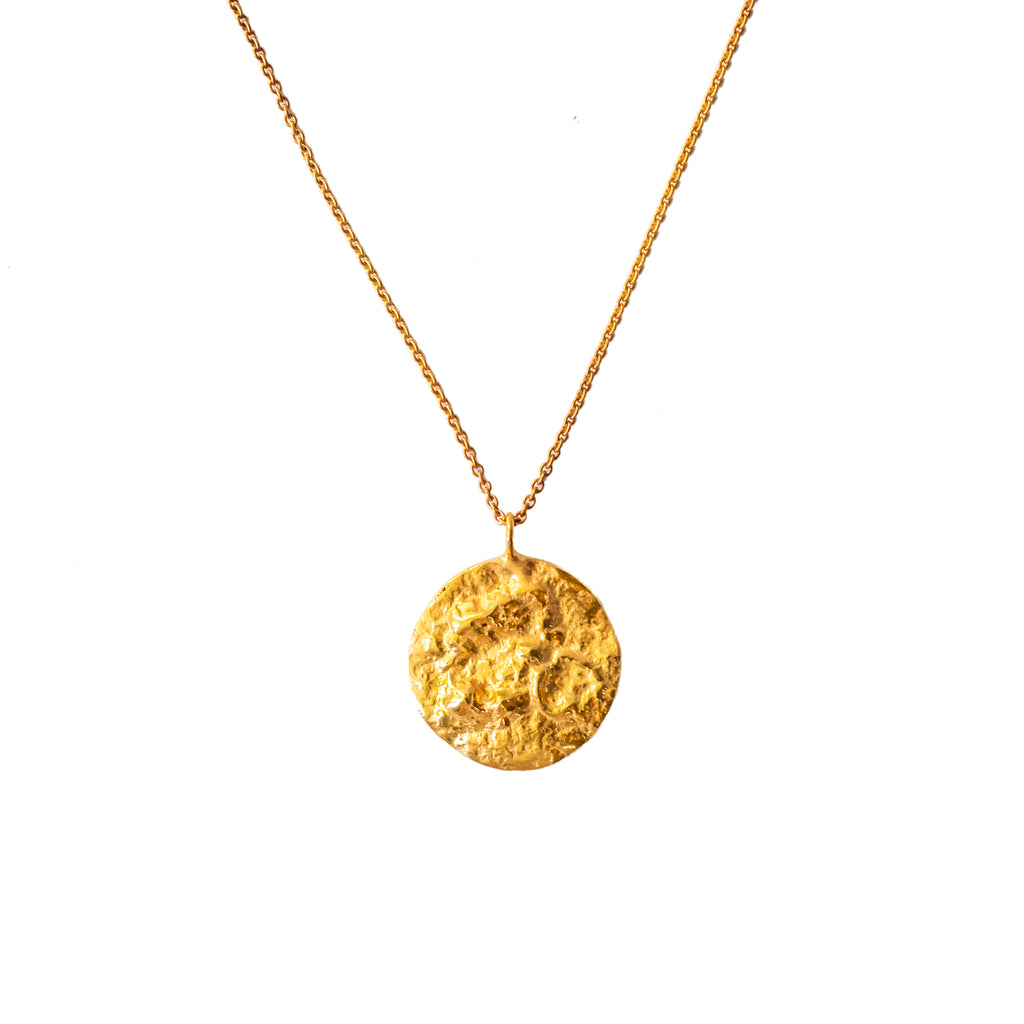 The Baby Moon Pendant (22ct Gold Vermeil) Pascale James Jewellery