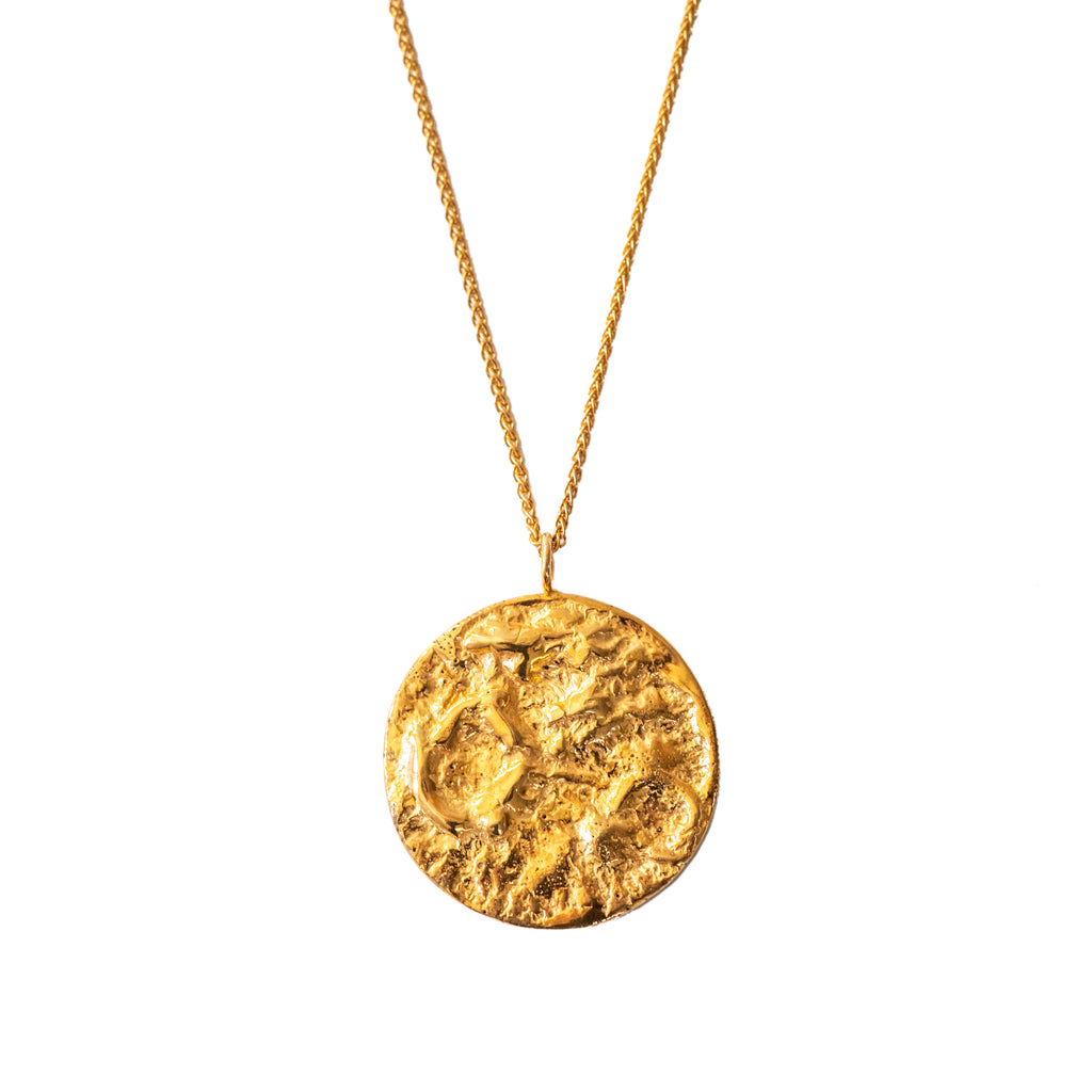 18ct Fairtrade yellow gold moon necklace