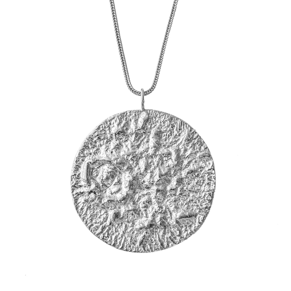 The Large Moon Pendant (Sterling Silver) Pascale James Jewellery