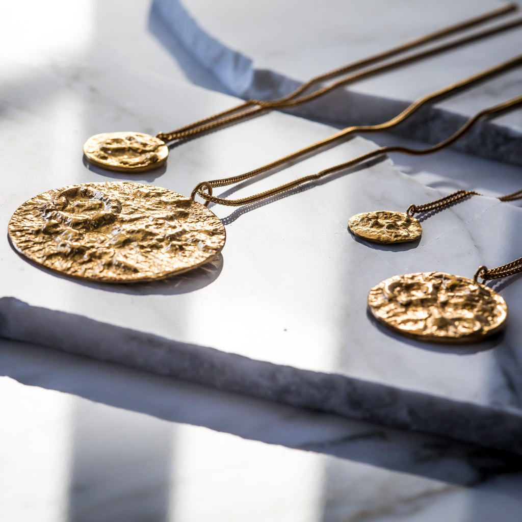 The Moon Pendant (22ct Gold Vermeil) Pascale James Jewellery