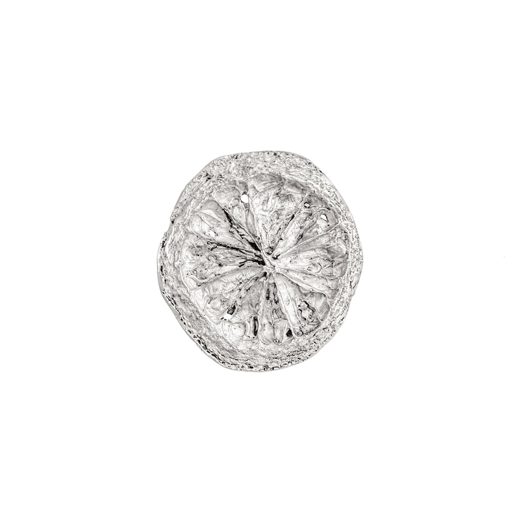 Small Lemon Slice Brooch (Sterling Silver)