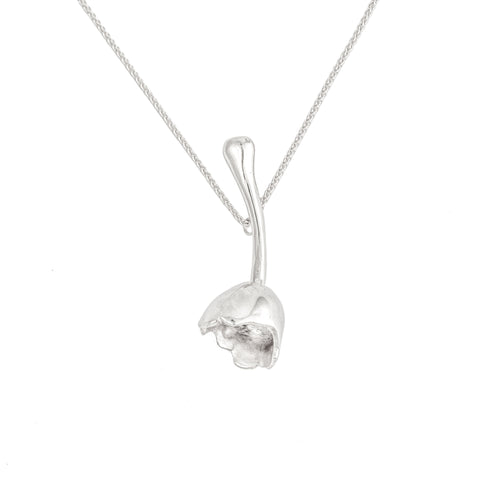 Pear Top Pendant (Sterling Silver)