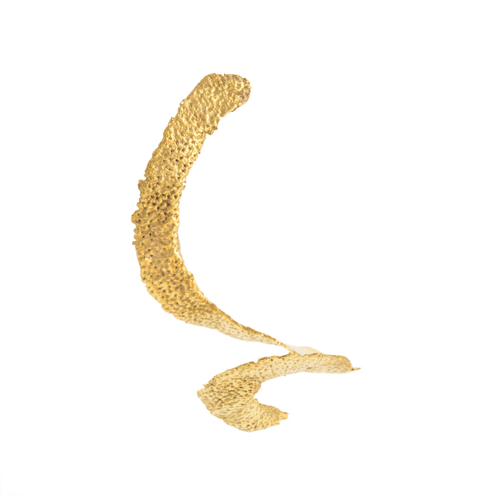 Unravelled Orange Peel Earring (22kt Gold Vermeil)