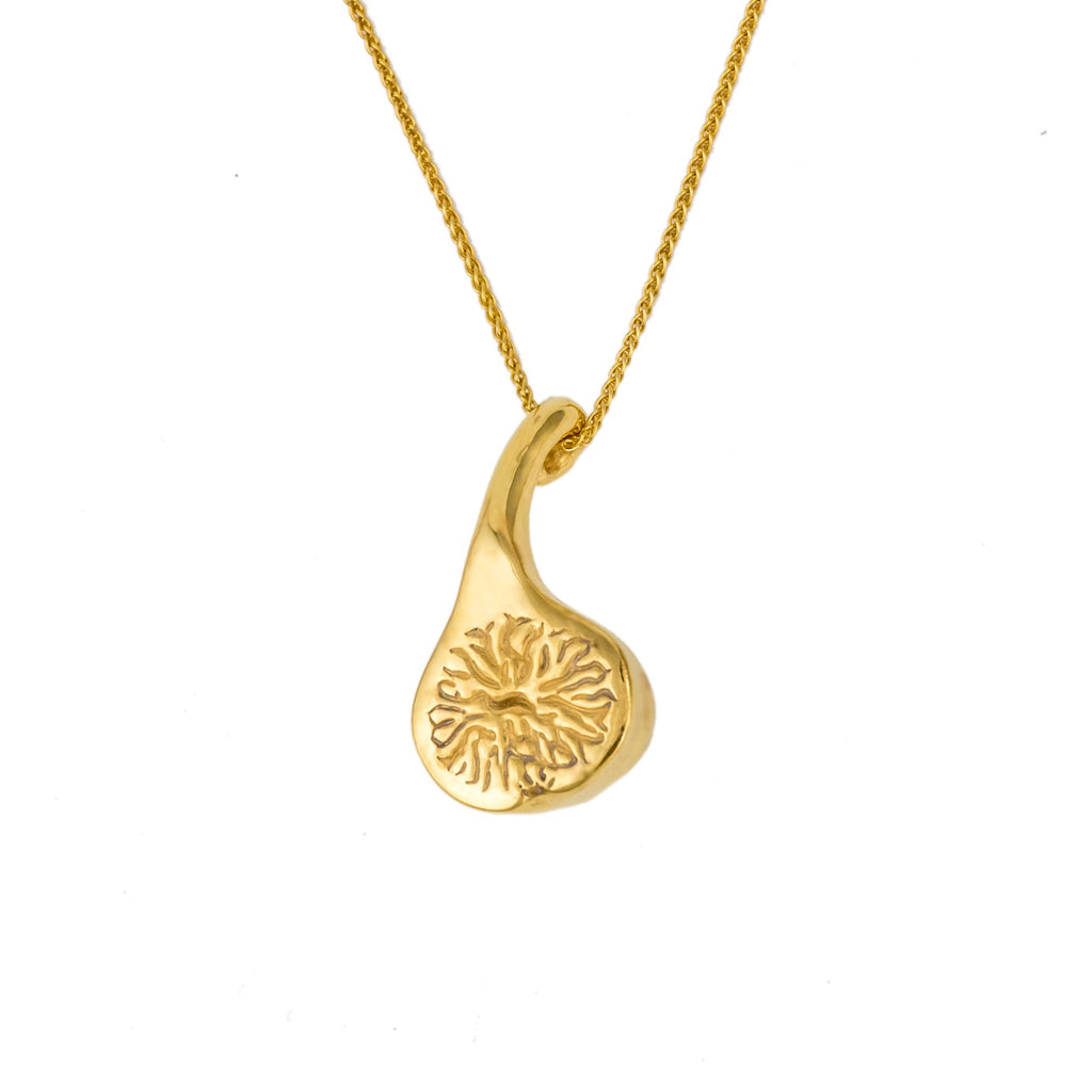 Quirky solid gold necklace in 18ct Fairtrade Gold