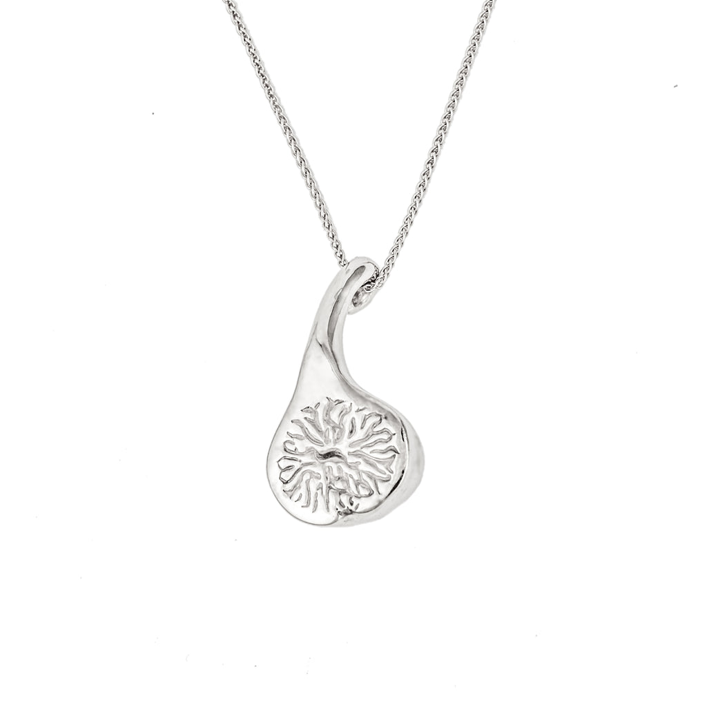 Solid sterling silver little fig pendant necklace