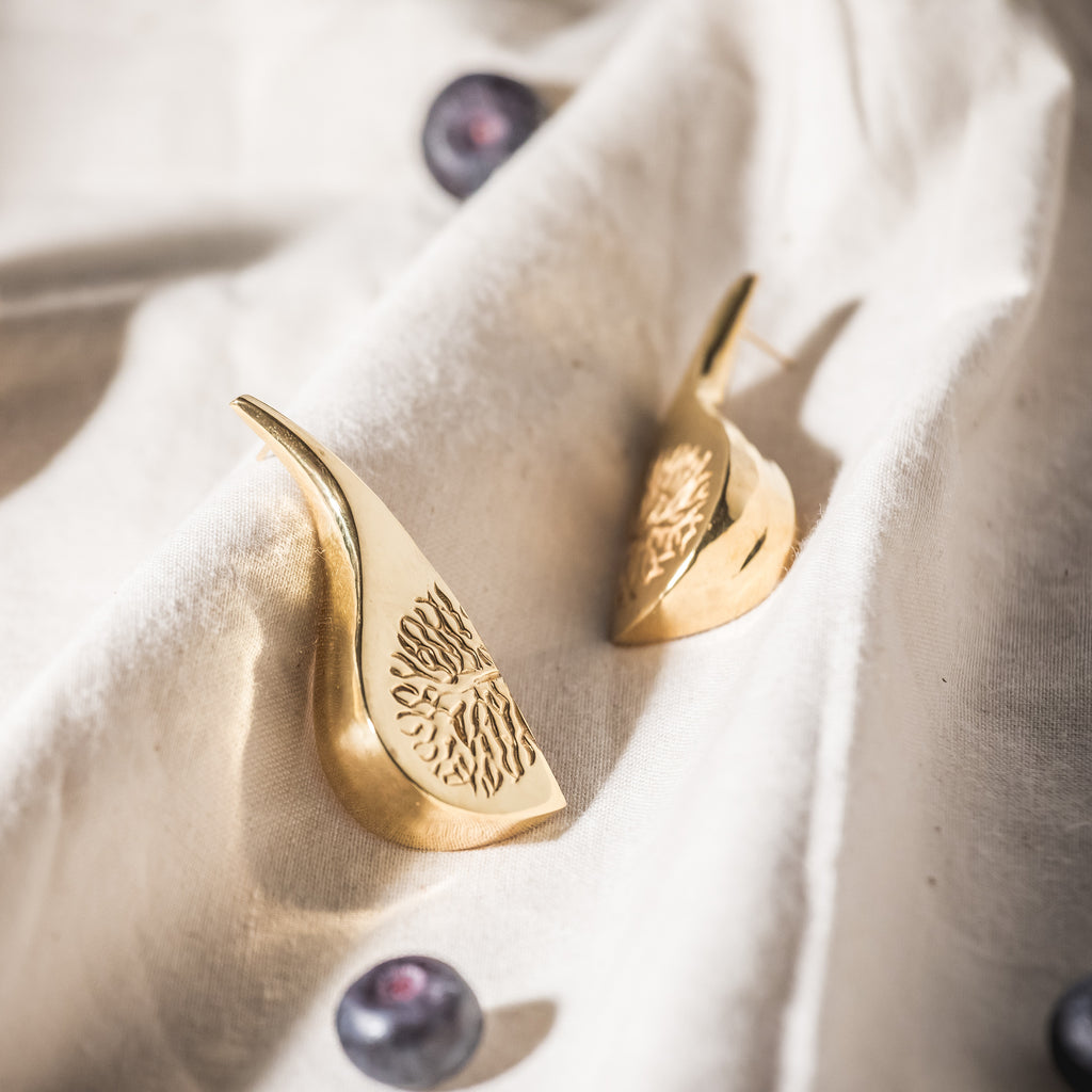 The Fig Earrings, 22kt Gold Vermeil