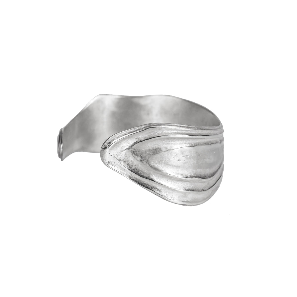 The Ocean Swell Cuff (Sterling Silver) Pascale James Jewellery