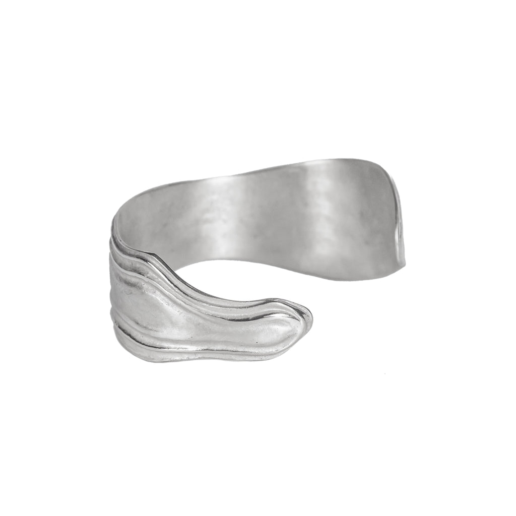 Recycled sterling silver statement cuff bangle