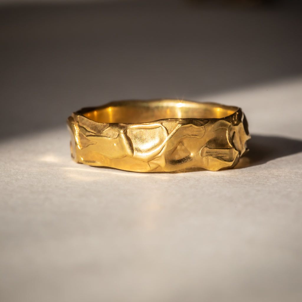 Ethically made wedding band in 18ct Fairtrade Yellow Gold