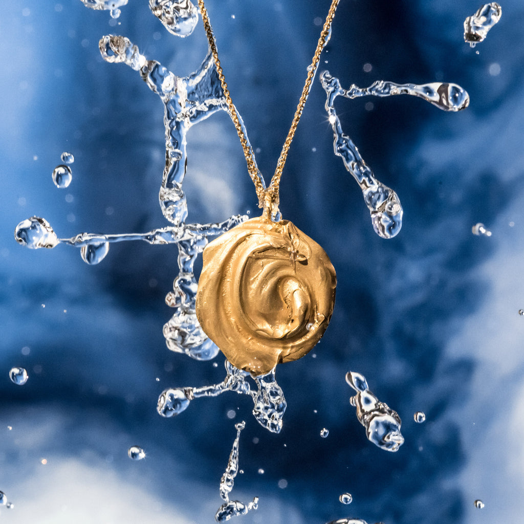 The Endless Whirl Pendant (22ct Gold Vermeil) Pascale James Jewellery