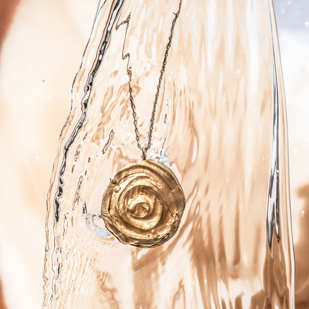 The Swirling Eddy Pendant Recycled Sterling Silver