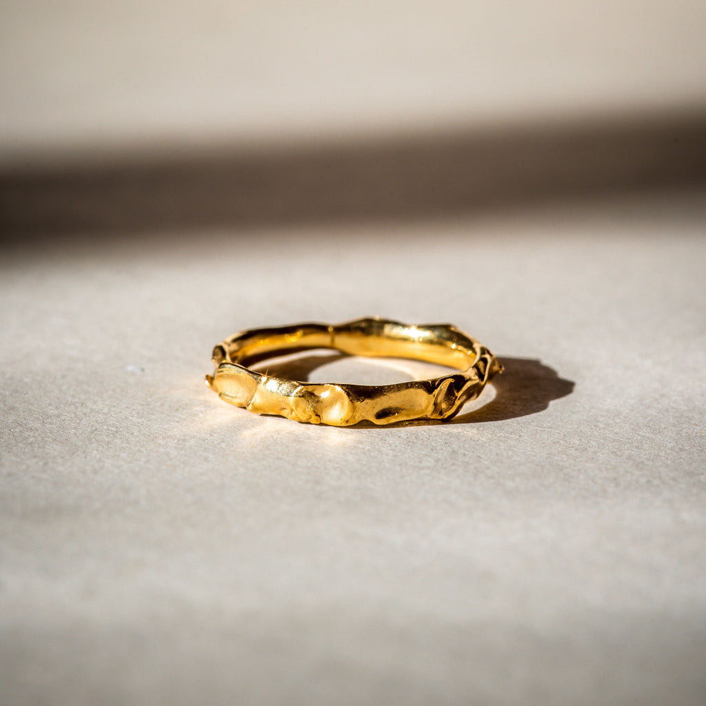 Ethically made gold wedding ring