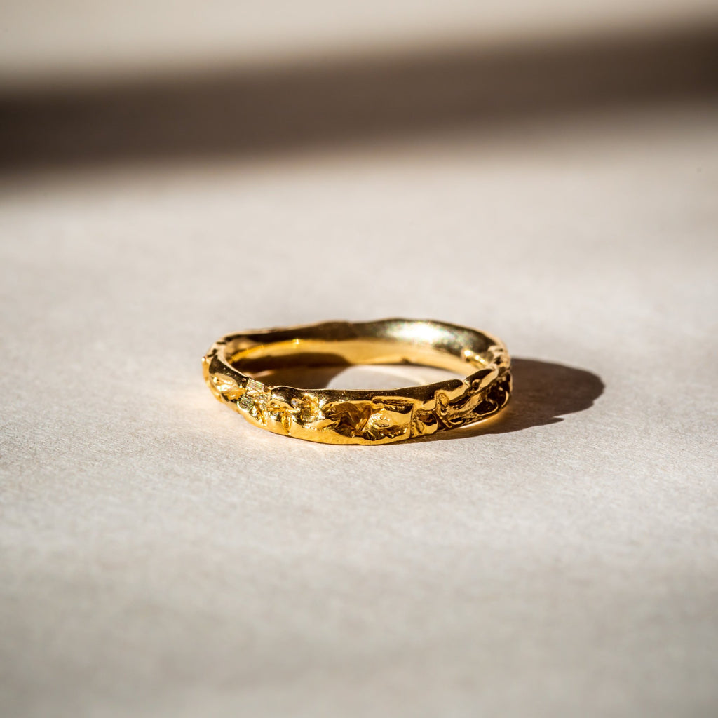 Ethically made 18ct Fairtrade Gold band