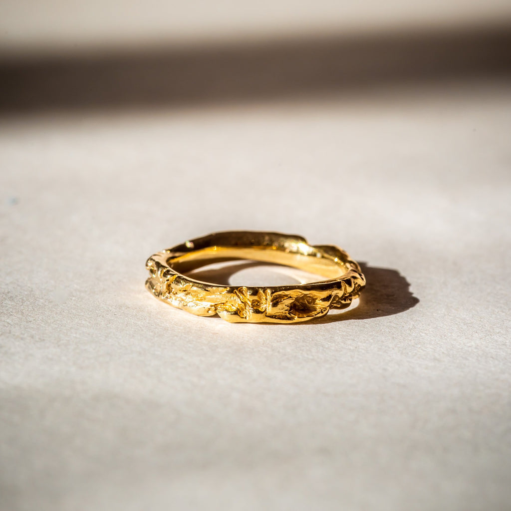Stackable 18ct gold ring, handcrafted in London