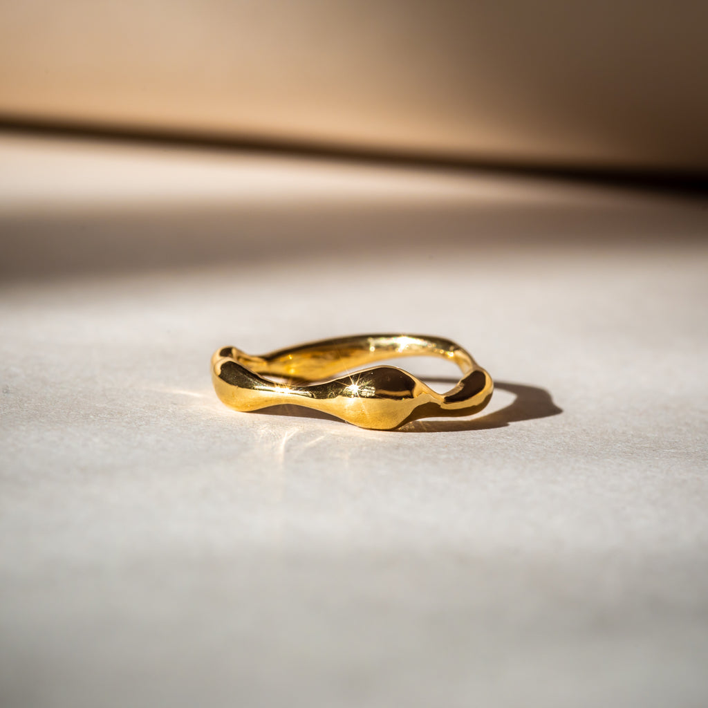 Simple, everyday fine yellow gold ring