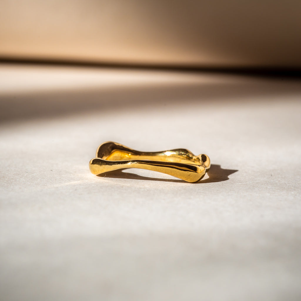 Minimalistic, slim 18ct Fairtrade gold band
