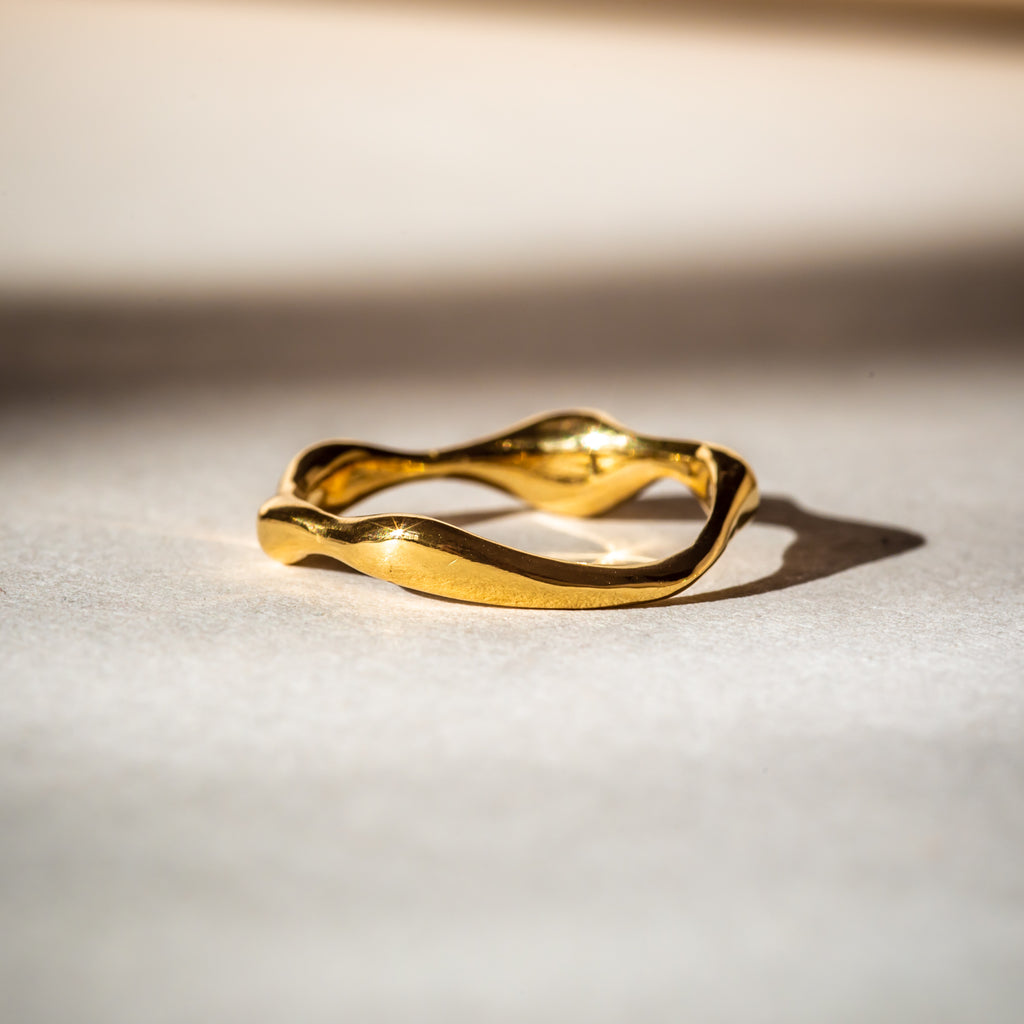 Ethically handcrafted 18ct Fairtrade Gold Wedding Band