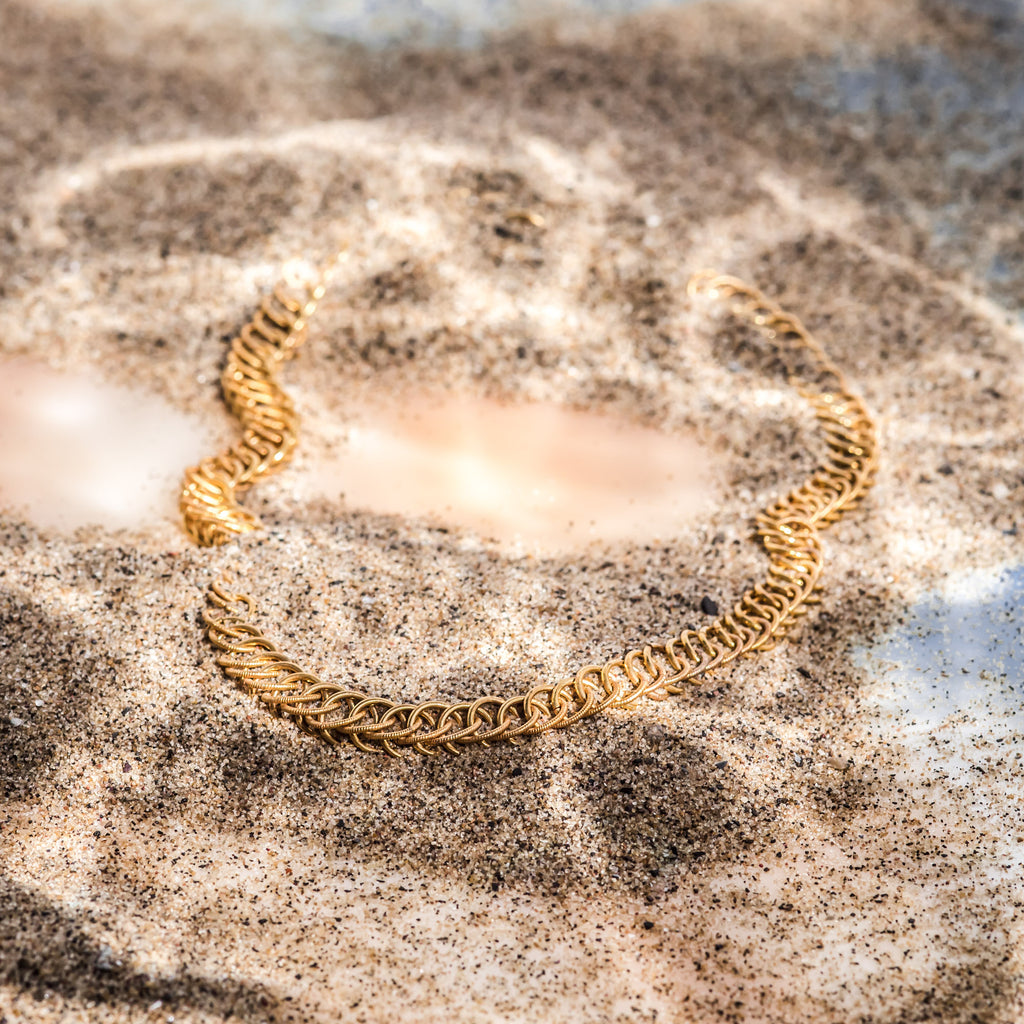 The Water Series Chain Necklace (22ct Gold Vermeil) Pascale James Jewellery