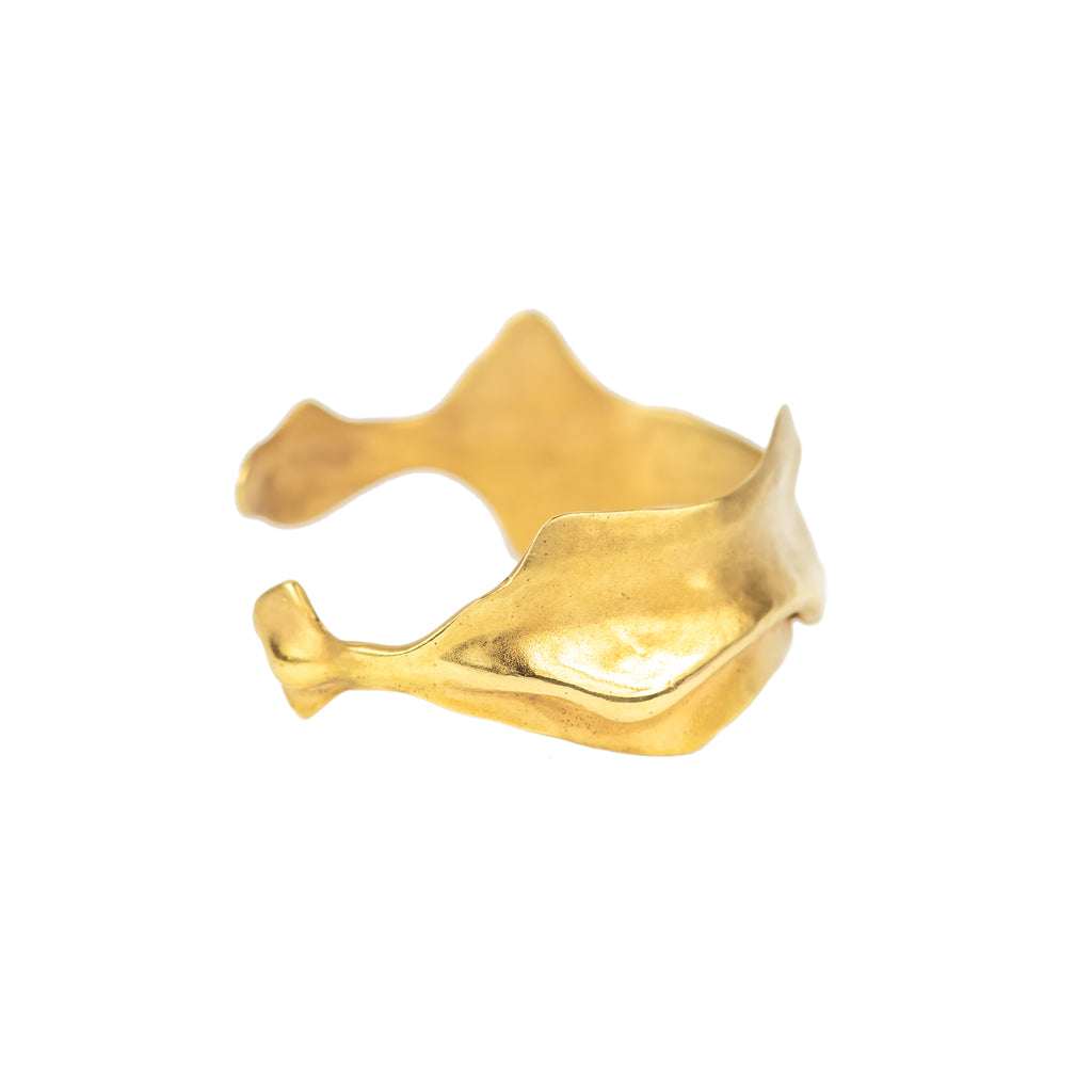 The Folding Wave Bangle (22ct Gold Vermeil) Pascale James Jewellery