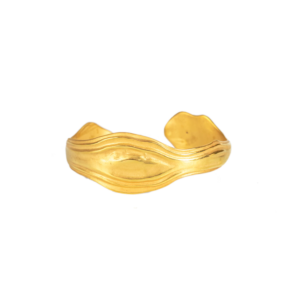 The Rolling Swell Bangle (22ct Gold Vermeil) Pascale James Jewellery