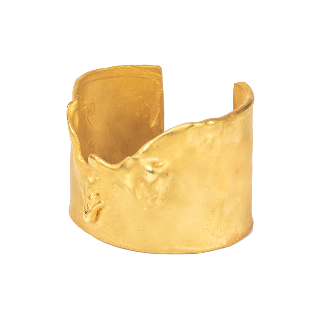 The Dancing Foam Cuff (22ct Gold Vermeil) Pascale James Jewellery