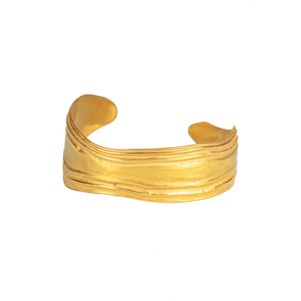 Statement Gold Cuff, Statement Solid Gold Jewellery, Fairtrade Gold