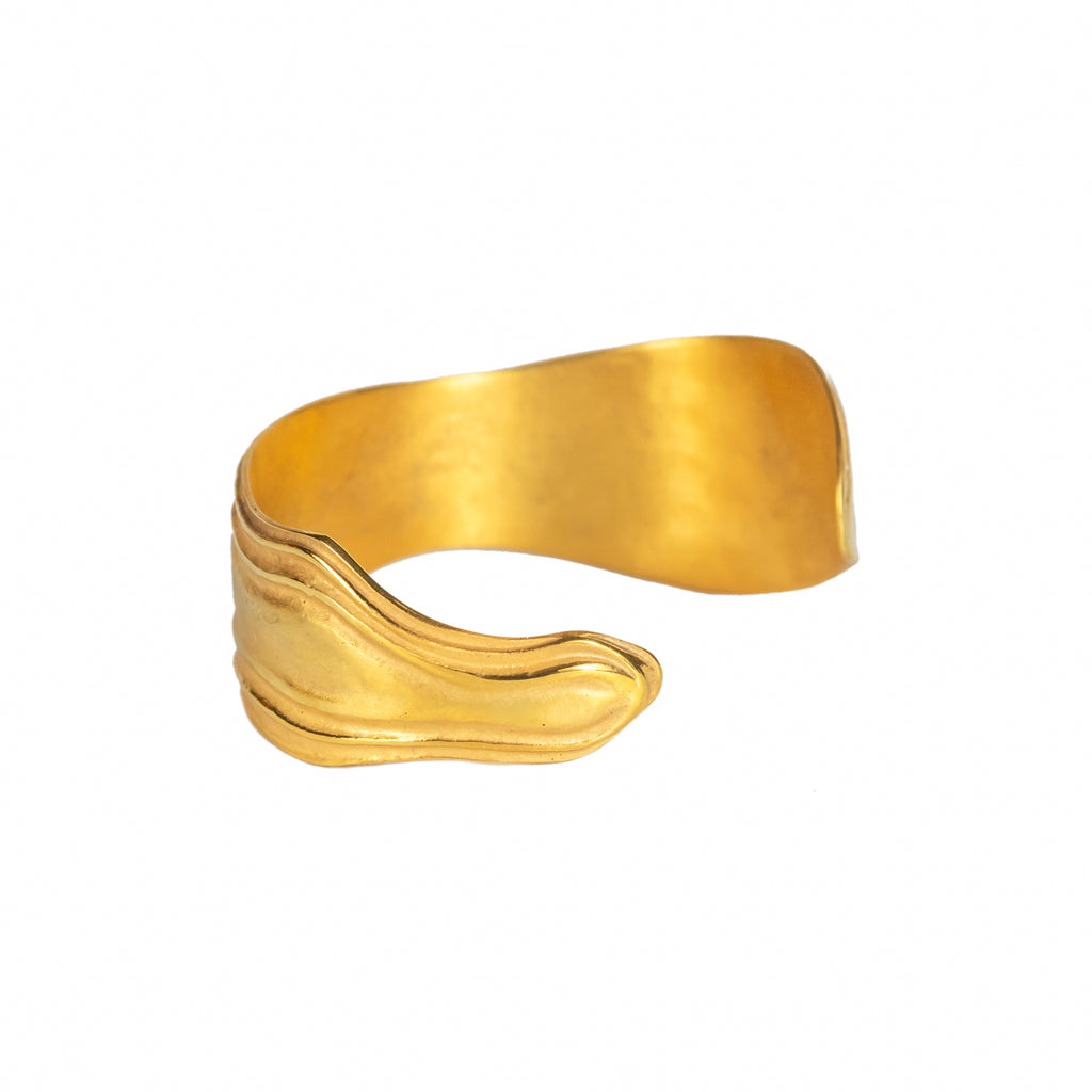 The Ocean Swell Cuff (22ct Gold Vermeil) Pascale James Jewellery