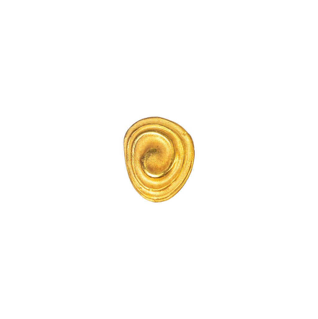 Dainty ripple effect 18ct gold earrings