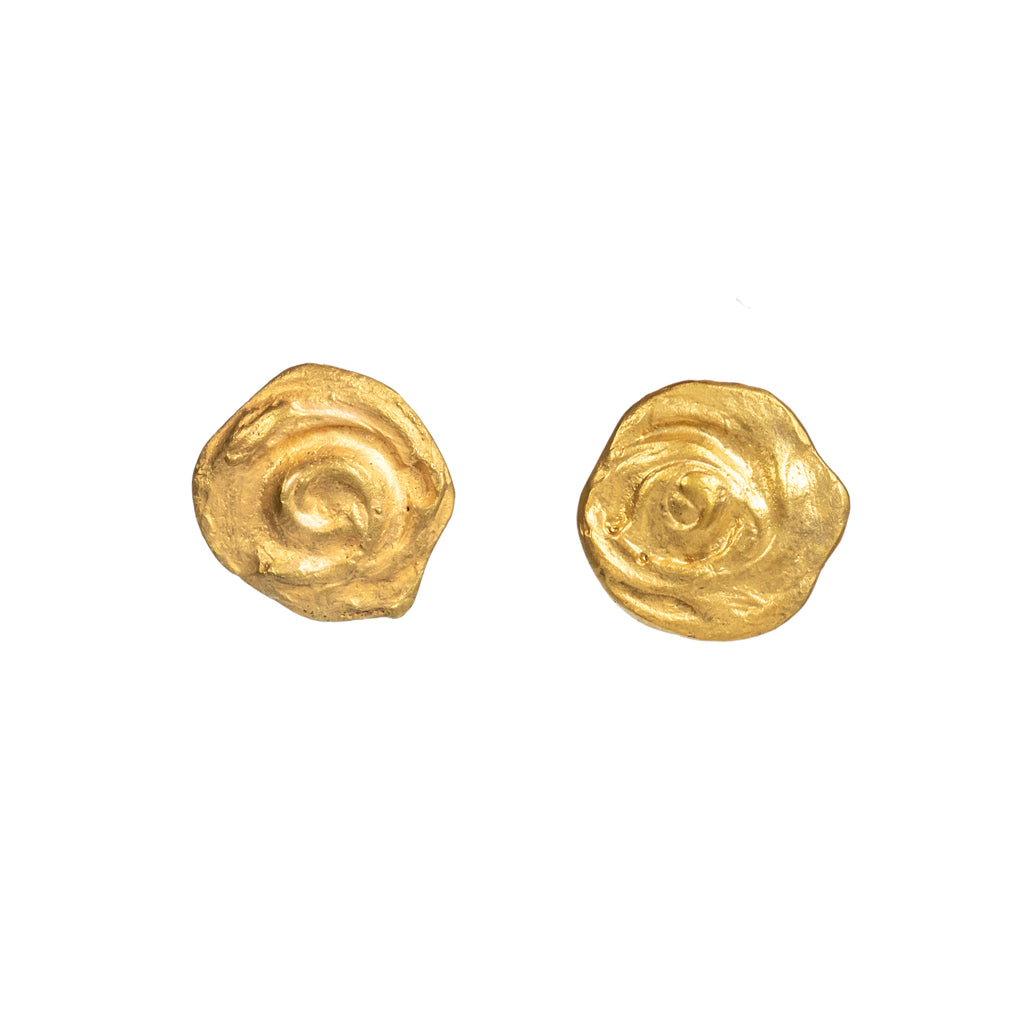 The Little Whirl Earrings (22ct Gold Vermeil) Pascale James Jewellery