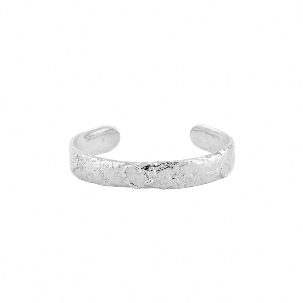 Statement recycled sterling silver bangle