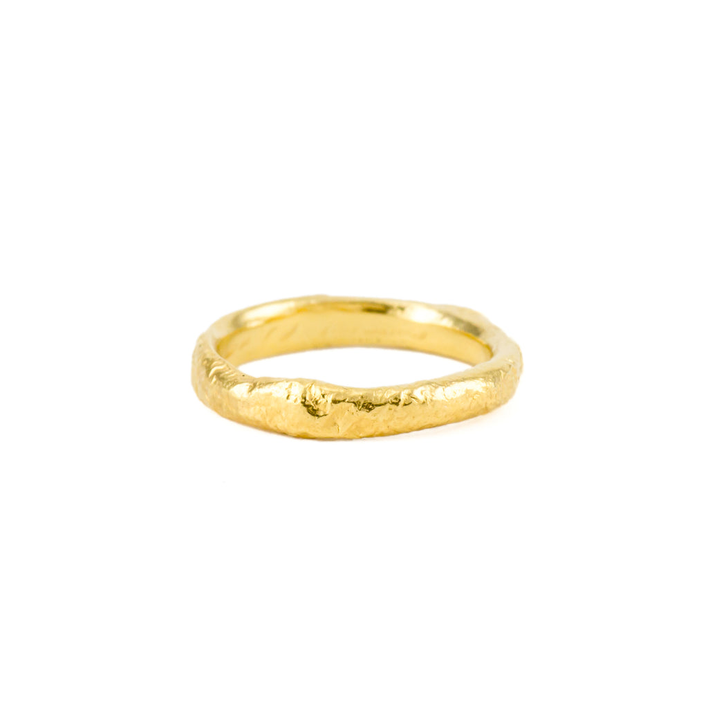 Glacial Band Narrow (22kt Gold Vermeil)