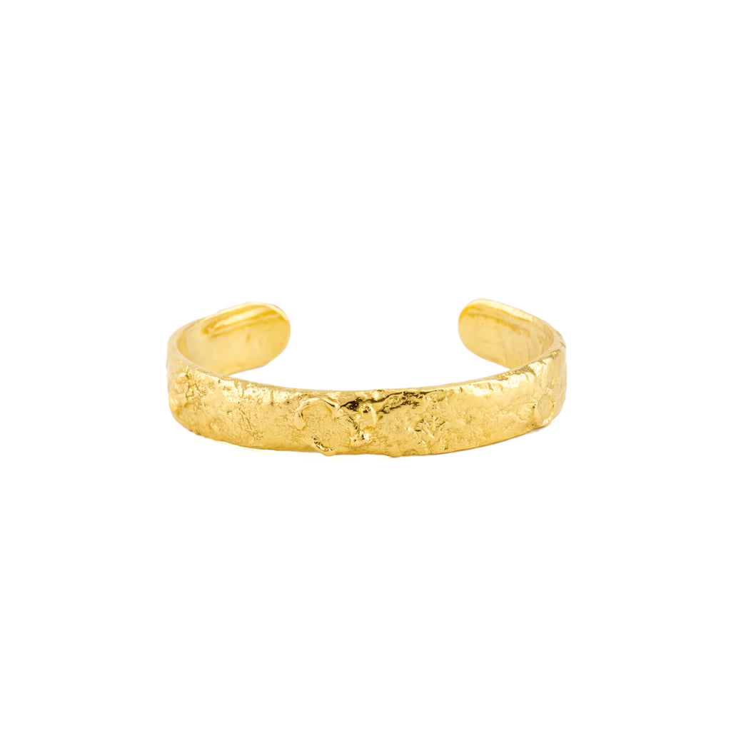 Chunky 18ct Fairtrade Gold Bangle, handcrafted in London
