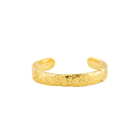 Glacial Bangle Wide (22kt Gold Vermeil)