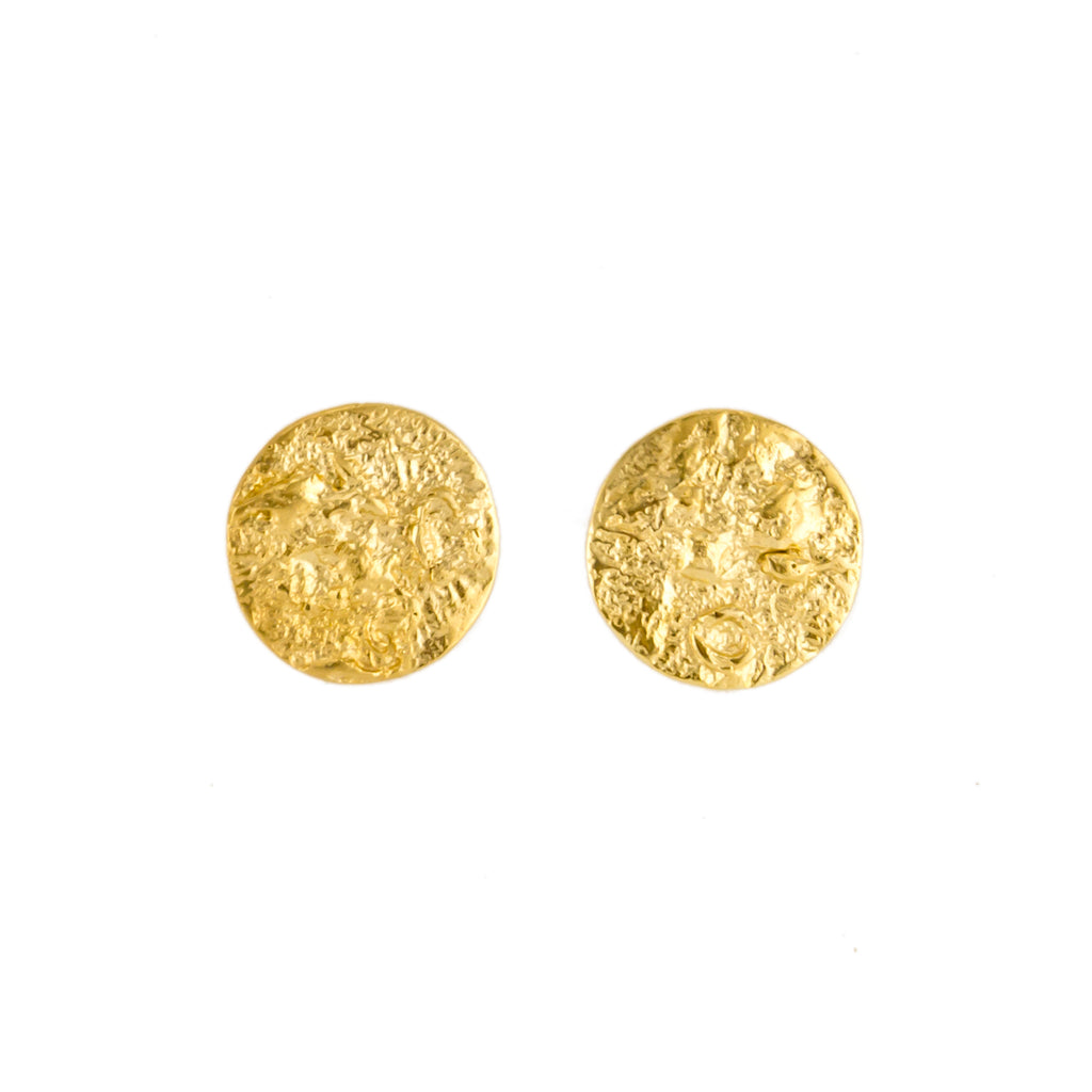 18ct Fairtrade yellow gold disc earrings