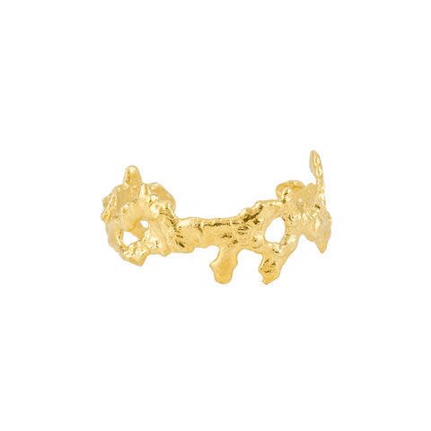 Molten Coral Bangle, 18kt Gold Vermeil